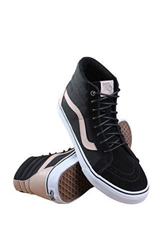 Vans Men's SK8-Hi Reissue (Veggie Tan) Skate Shoes Black/True White 8.5 D(M) US