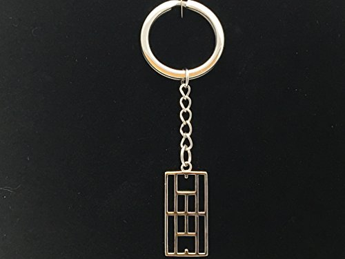 Rhodium Key (15x30mm Calling the Lines Key Ring Rhodium plated Sterling Silver)