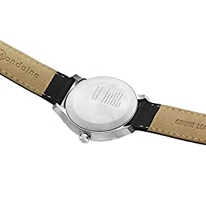 Mondaine Helvetica No1 B Wrist Watch (MH1.B1220.LB) Swiss Made, Black Leather Strap, Silver Stainless Steel Case, Black…