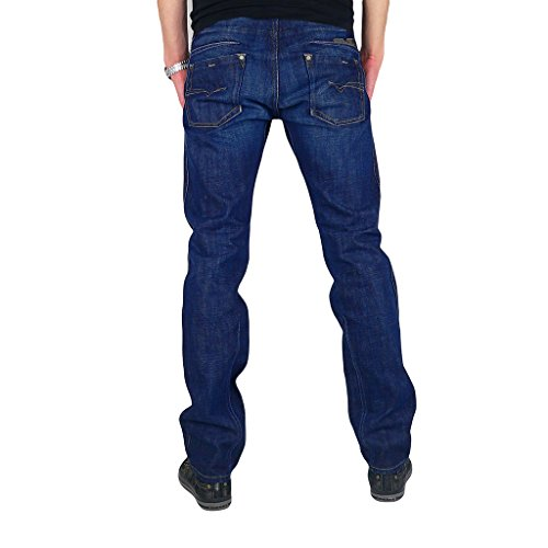 Diesel Darron 0074W 74W Regular Slim Tapered Herren Jeans Hose Blau Dunkelblau W27 L32