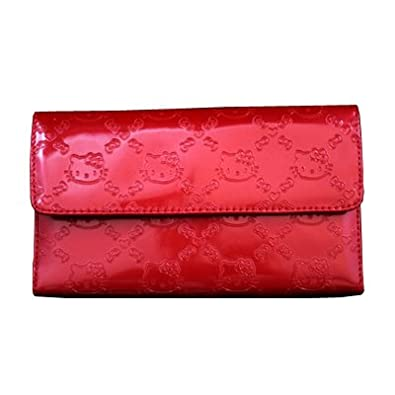Image Unavailable. Image not available for. Color  HELLO KITTY RED PATENT  EMBOSSED WALLET 1c561beb44b6e