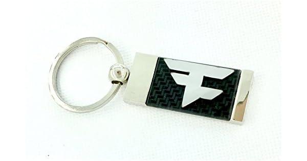 Amazon.com: Faze Clan F Logo chapado en cromo/carbono fibra ...
