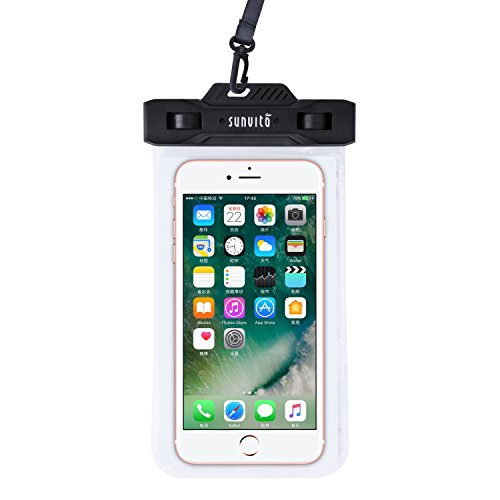 Sunvito waterproof case, IPX8, Universal and long-lasting, case to go underwater with armband, with transparent window sensitive to touch, compatible with iPhone, Android, Windows phone and smartphone