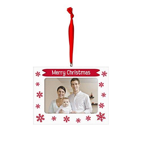 Tiny Ideas Merry Christmas Photo Ornament, Creative Holiday Keepsake, Red -