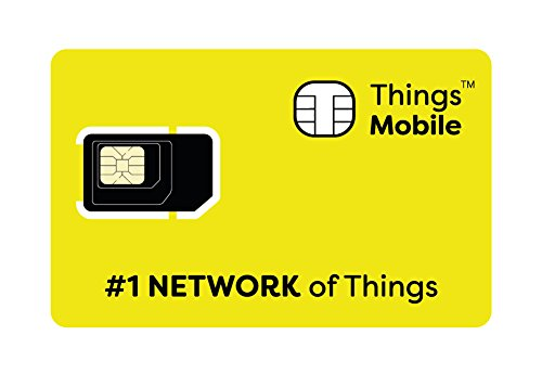 Things Mobile Prepaid SIM Card for IOT and M2M with Global Coverage Without Fixed Costs. Ideal for Home Automation, GPS Tracker, Telemetry, Alarms, Smart City, Automotive. Credit Included 30$.