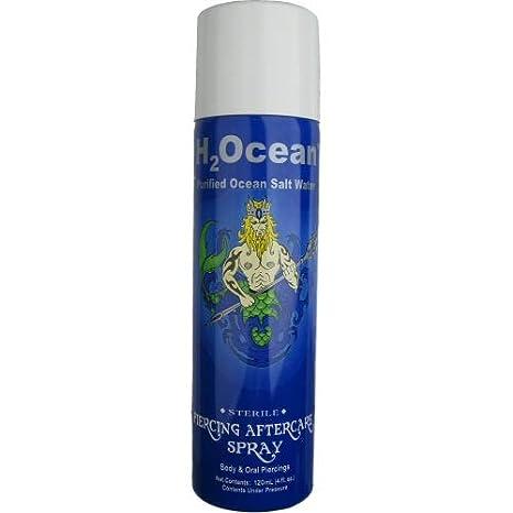 Amazon.com: H2Ocean, espray para el cuidado de los piercings ...