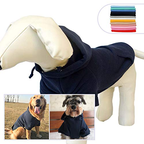 (Pet Clothing Clothes Dog Coat Hoodies Winter Autumn Sweatshirt for Small Middle Large Size Dogs 11 Colors 100% Cotton 2018 New (XXXXL, Navy Blue))