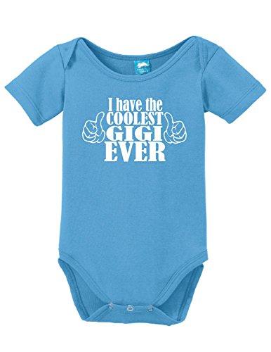 (Sod Uniforms I Have The Coolest Gigi Ever Printed Infant Bodysuit Romper Light Blue 6-12 Mo.)