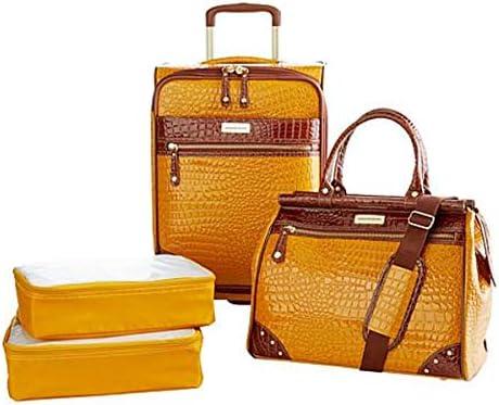 Koi Orange Samantha Brown Slim Line Packing Cubes 4-Piece Set
