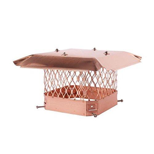 HY-C 13 x 18 Draft King Single Flue Copper Chimney Cap - 3/4