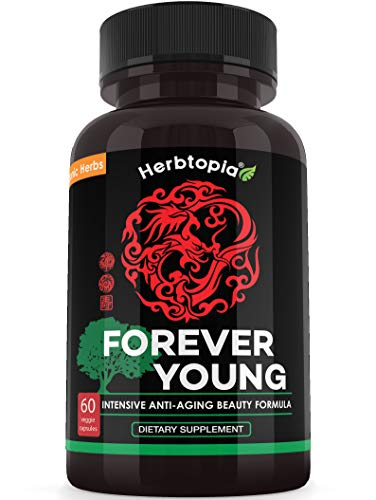 Forever Young Anti Aging Supplement - Extra Strength Formula for Anti Aging & Brain Function - with Organic Ginseng, Organic Dang Shen, Organic Astragalus Root, Organic Reishi Mushroom