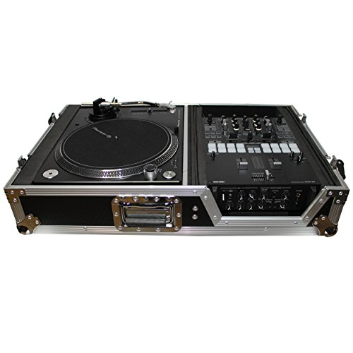Single Turntable - ProX XS-TMC1012W Flight Case w/ Wheels for Single Turntables+10