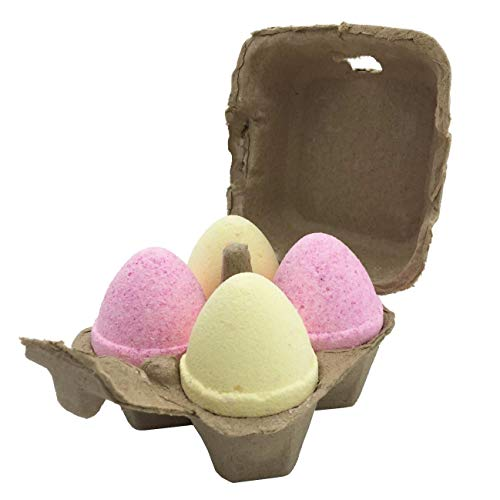 (Streamline Eggsellent Fizzies Bath Bombs, 4 Egg Shaped Bath Bombs with Dead Sea Minerals   Handmade in Israel)