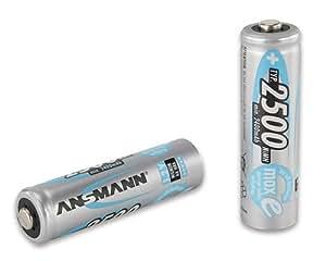 Ansmann 2500mAh AA maxE plus - Batería/Pila recargable (Nickel-Metal Hydride (NiMH), Universal, AA, Multi)