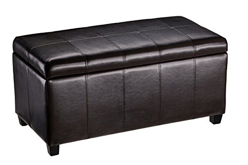 First Hill Rectangular Storage Ottoman, Dark Brown