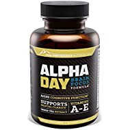 Peak Performance | Alpha Day Brain Supplement & Focus Supplement Vitamin | Nootropic Energy Pills | Aids Cognitive Function, Memory, Clarity & Concentration | Bacopa, DMAE & Huperzine A | 60 Capsules