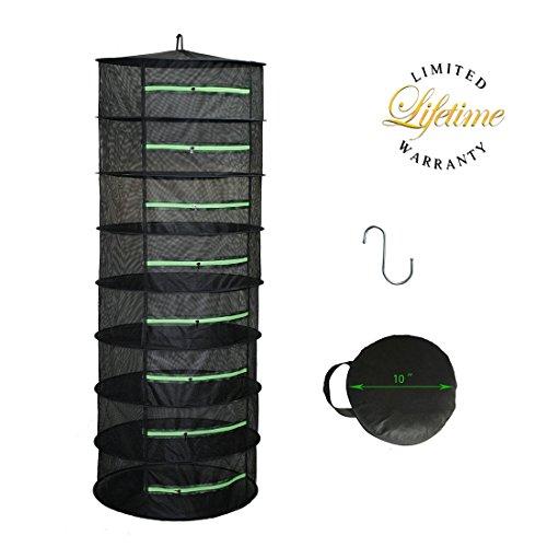 Hydgooho Herb Drying Rack 8 Layer Dryer 2ft Black Mesh Green Zipper Review