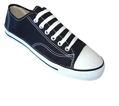 Womens Classic Canvas Shoes Sneakers 6 Colors (10, Black 327L) ()