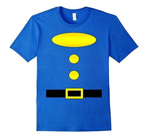 Halloween Group Costumes Ideas (Mens Dwarf Halloween Group Costume Idea T-Shirt with name plaque Medium Royal Blue)