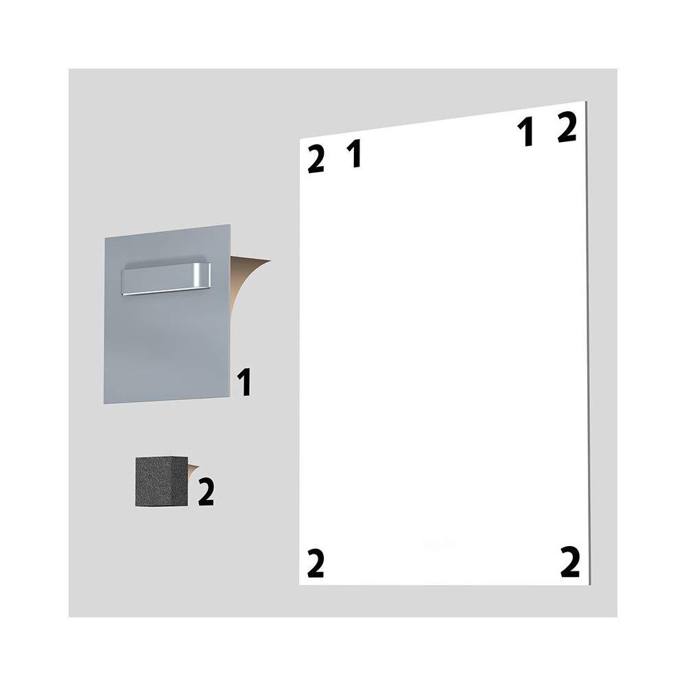 max 3/kg NEWLY Scatola di 2/fascette adesive per Dibond e specchio 70/x 70/mm