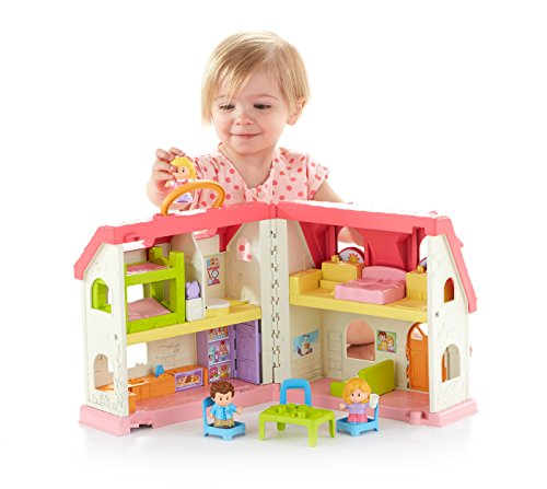 What do you buy a 1 year old girl for her birthday? Fisher-Price Little People Surprise & Sounds Home