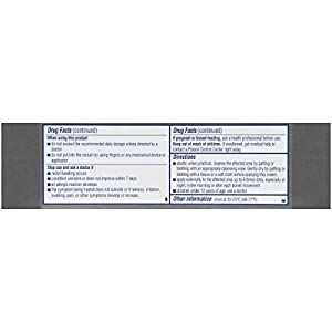 Preparation H Rapid Relief with Lidocaine Hemorrhoid Symptom Treatment Cream, Numbing Relief for Pain, Burning and Itching, Tube (1.0 Ounce)