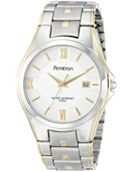 Armitron Mens 20/4413SVTT Two-Tone Bracelet and Silver Dial Dress Watch