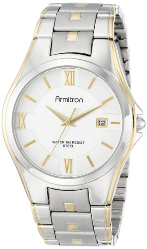 Armitron Men's 20/4413SVTT Two-Tone Bracelet and Silver Dial Dress Watch