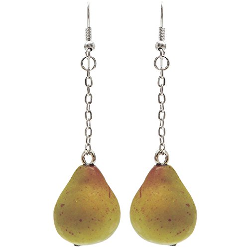 Mini Styrofoam Coated Fruit Earrings On 1