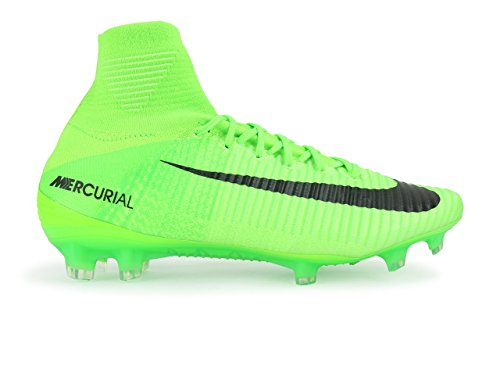 Nike Men's Mercurial Superfly V FG Electric Green/Black/Ghost Green Soccer Shoes - 10.5A