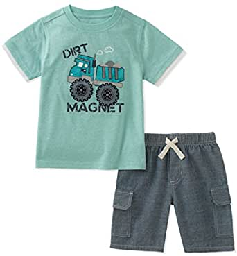Kids Headquarters Toddler Boys' 2 Pieces Short Set, Green, 2T