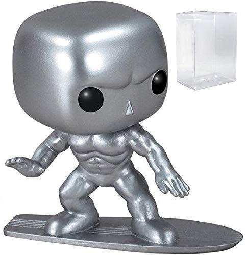 (Funko Pop! Marvel - Silver Surfer Vinyl Figure (Bundled with Pop BOX PROTECTOR CASE))