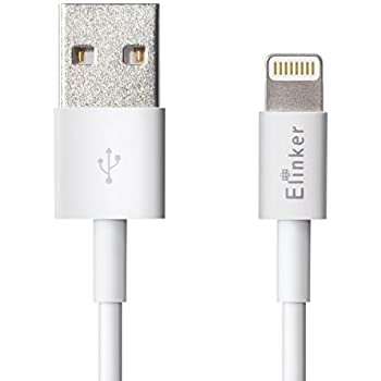 iPhone Charger ,[Apple MFi Certified] Lightning Charger & Sync Elinker Lightning to USB Cable (3.3ft) for iPhone 7/7 Plus,SE,6S/6S Plus,6/6 Plus, 5S / 5C / 5, iPad Air 2 /3, iPad