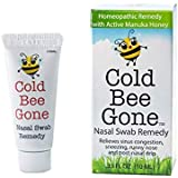 Cold Bee Gone Nasal Swab Cold and Flu Symptom Remedy w/Manuka Honey - 100+ Doses - All Natural