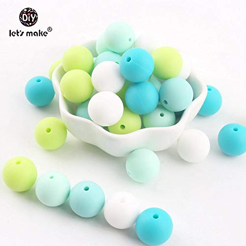 Baby Teethers - Let's 50pcs Silicone Beads 12mm Eco-friendly Sensory Teething Necklace Food Grade Mom Nursing DIY Jewelry Baby Teethers - by LuckyNecklaces - 1 PCs ()