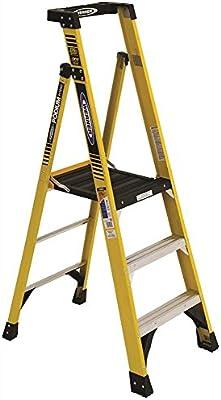 Werner escalera pd7303 tipo Ia de Werner aluminio podio escalera, 3