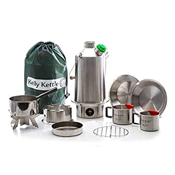 Kelly Kettle Base Camp - Set de cocina para acampada (1,6L, acero