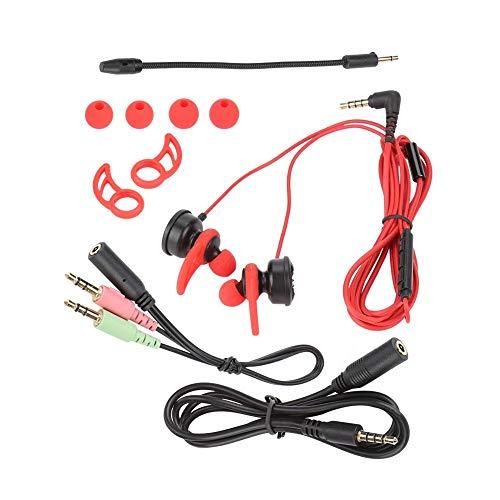 Auriculares intrauditivos con micrófono desmontable Micrófono Auriculares para juegos con cable Cancelación de ruido /...