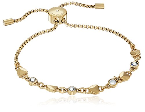 Michael Kors Logo Logo Love Gold Tone Slider Bracelet
