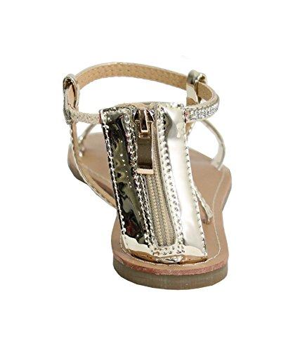 By Shoes - Sandalias para Mujer dorado