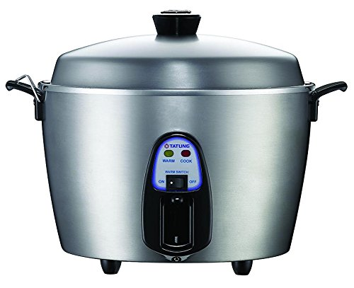 Tatung TAC-11KN(UL) 11 Cup Multi-Functional Stainless Steel Rice Cooker, Silver Gray