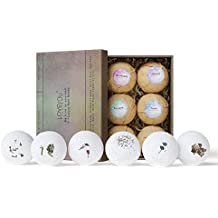 LOVE YOU Studio Bath Bombs Fizzies Set of 6 Relaxation Bubble Supplies, Gifts for women, Eucalyptus, Peppermint, Shea Butter,Sandalwood, Rose, Vanilla, Coconut Milk, Perfect for Bubble & Spa Bath