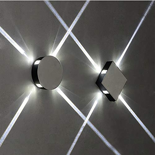 AYEN Modern Wall Light LED Up and Down Wall Wash Lights Aluminum for Living Room Hallway Stairs Creative Decoration Sconce 4W White-Square