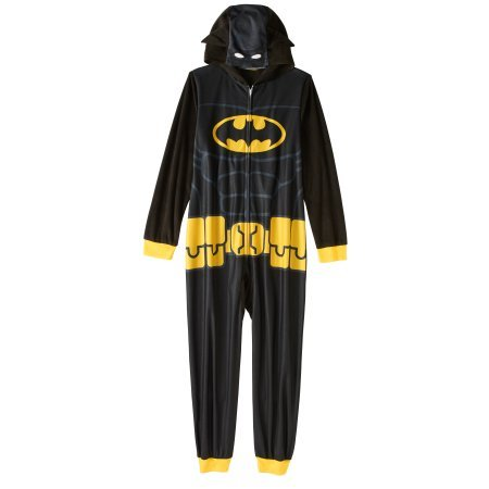 Batman Boys Hooded Pajama one piece Union Suit (Medium 8)
