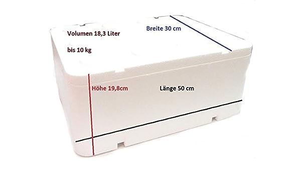 Caja térmica de poliestireno con tapa, 18,32 litros / 500 x 300 x ...