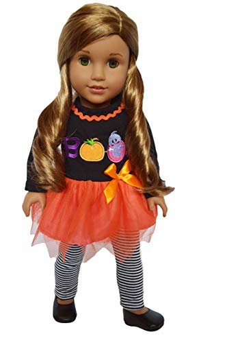 Brittany's Spooky Boo Outfit Compatible with American Girl Dolls- 18 Inch Doll Clothes Halloween]()