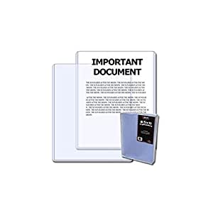 Case of 250 BCW 8.5 x 11 - Topload Holders 8.5x11 toploaders for documents, photos, or prints