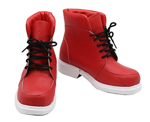Izuku Midoriya Cosplay Shoes, Unisex Janpanese Anime My Hero Academia Costume Boots Custom Made (US 8.5-Female) Red