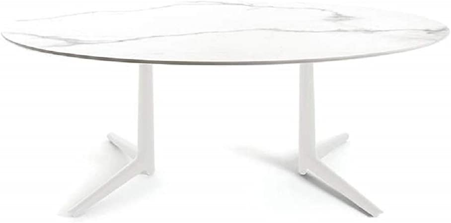 Tavoli Da Pranzo Kartell.Kartell Tavolo Da Pranzo Ovale Xl Multiplo 4084mb Gres Bianco