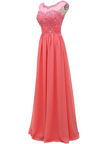 Gown Evening Bridesmaid Prom for Dress Anlin AN92 Appliqued Long Ivory Women's Wedding w7IT70Yq